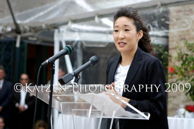 Sandra Oh recieving the ACTRA Award of Excellence, Los Angeles, California
